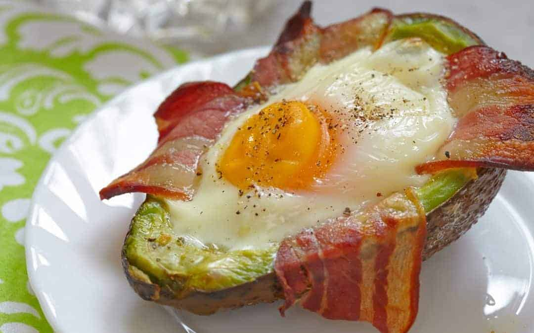Avocado Egg Boats with Bacon