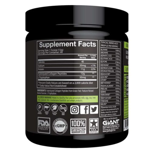 Giant Sports Collagen Peptides Ingredients