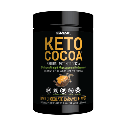 Keto friendly hot chocolate salted caramel flavor