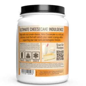 keto cheesecake pumpkin spice back of container
