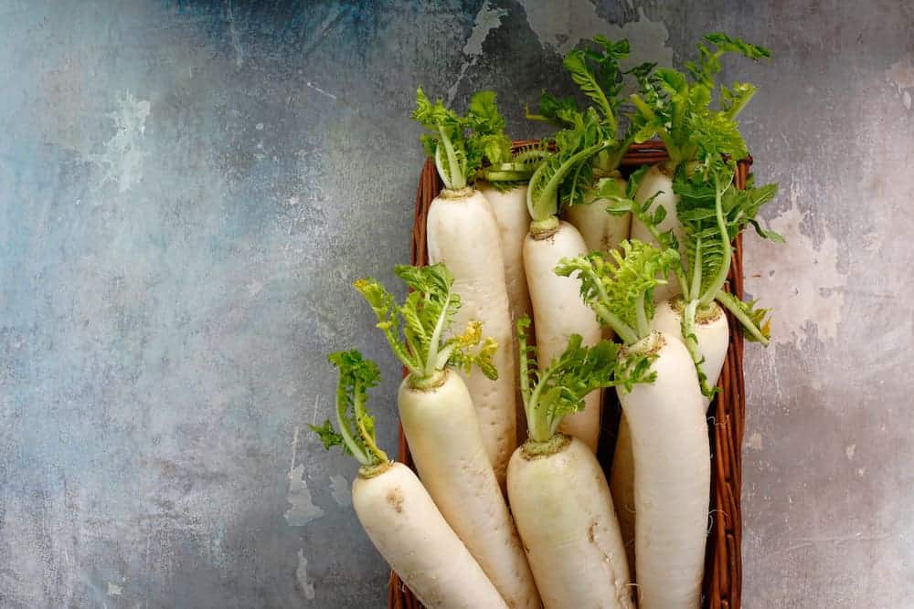 daikon or mooli as keto friendly alternative