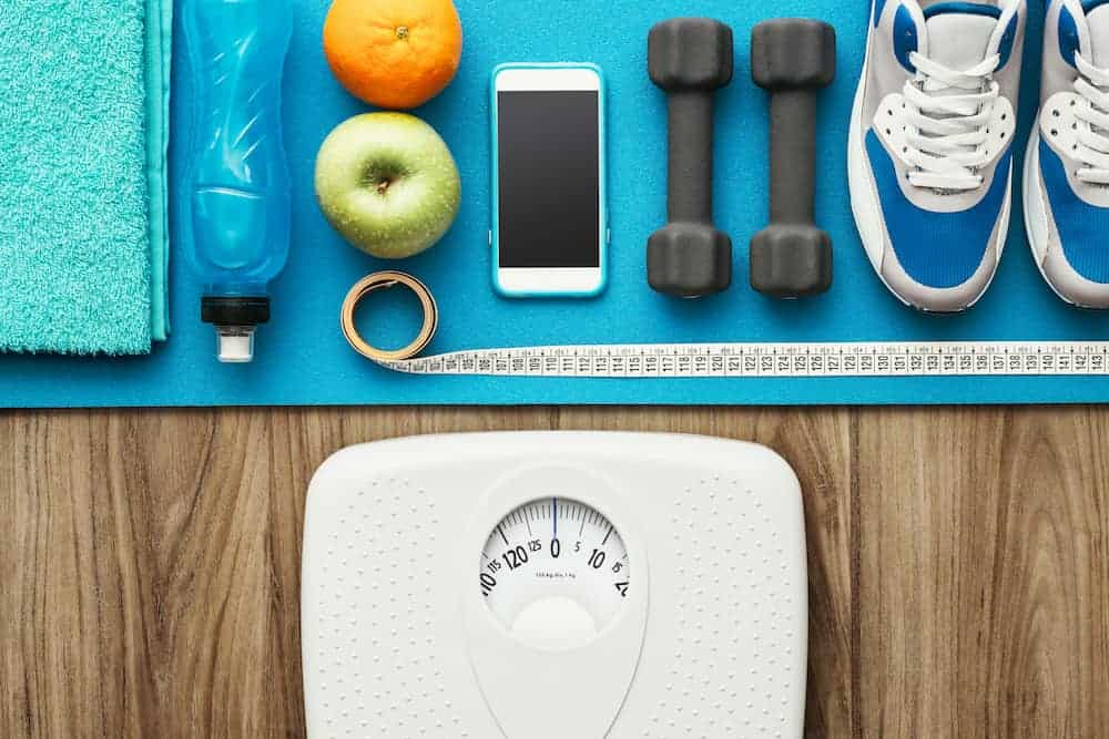 scale and tools after and during working out