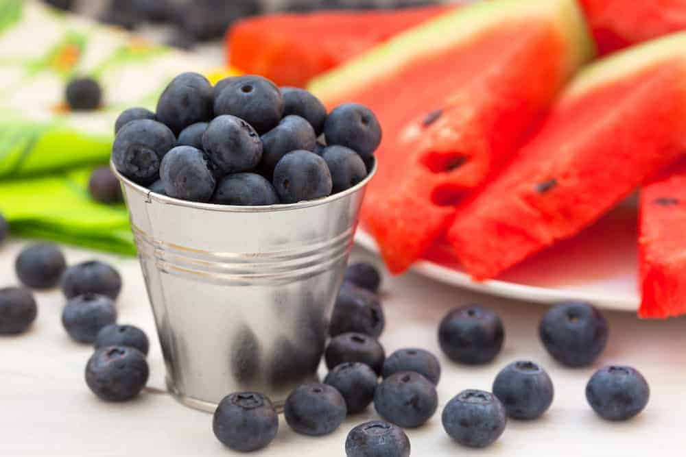 blueberries watermelon