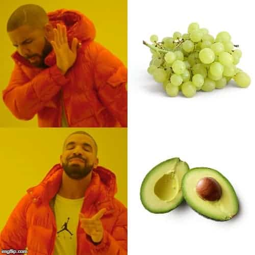grapes not good for keto and have avocados instead