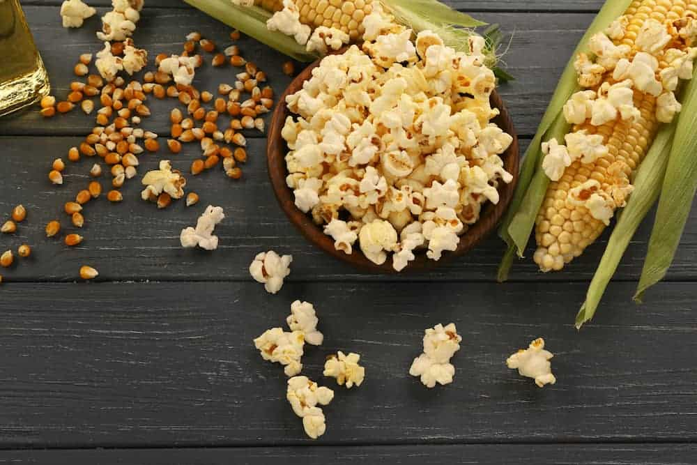 popcorn and corn ear