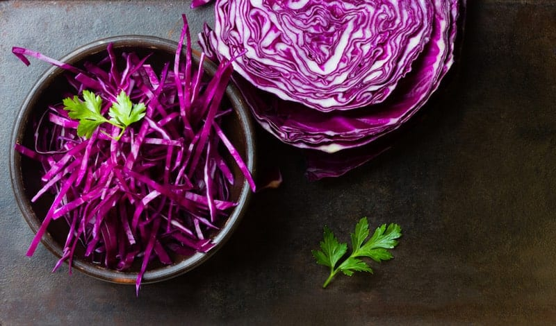 red cabbage in a bowl