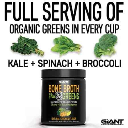 organic greens serving in every cup